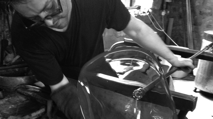 Stephen Gillies Making Glass 2015