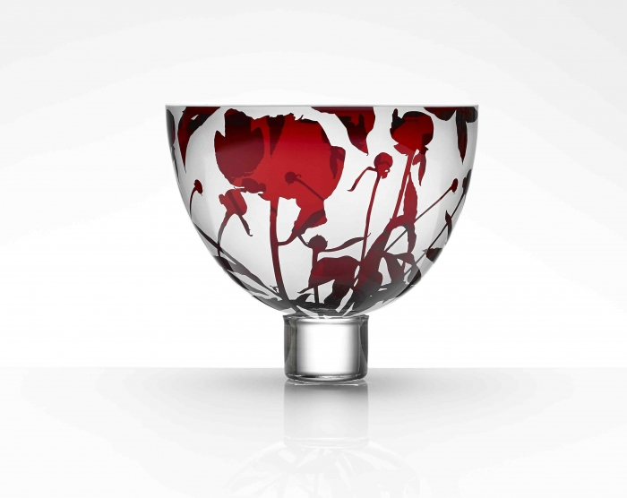 Gillies Jones Hand Blown Limited Edition Peony Bowl