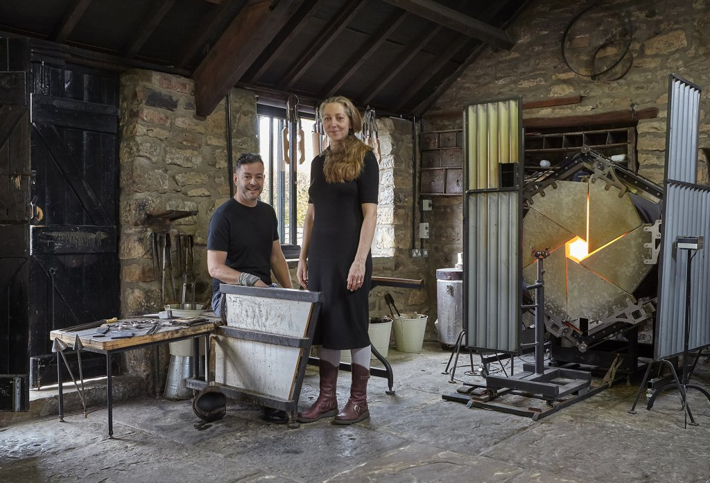 Steve & Kate in the workshop